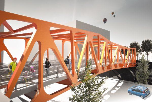Jätkäsaaren silta pienoismalli havainnekkuva