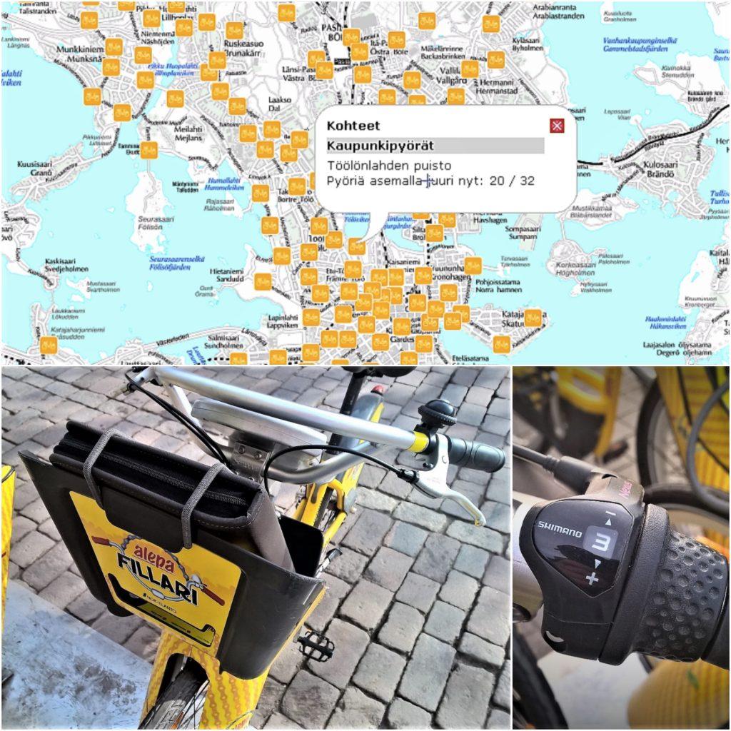 Polkupyöräkuvakollaasi